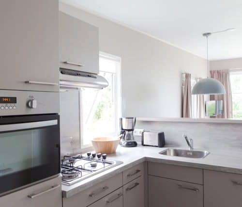 Comfortable kitchen with combi microwave